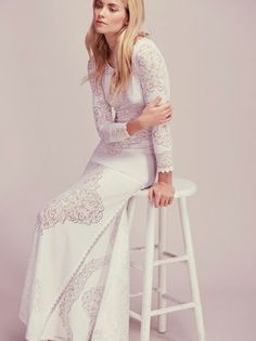 8e1a233e459a NWOT Free People Limited Edition Carolyn Mendell White maxi Dress size Large
