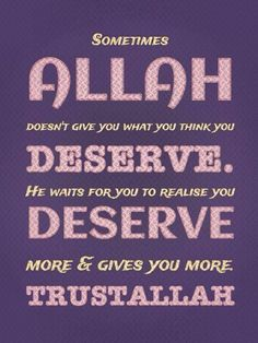 What you deserve.. <3