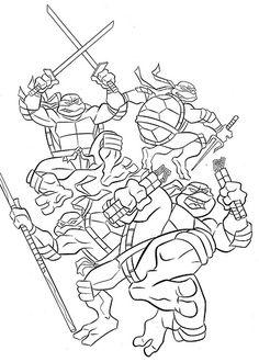 Top 25 Free Printable Ninja Turtles Coloring Pages Online | Ninja ...