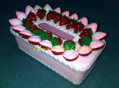 tissue box cover -- strawberry cake sunflower | Blog pecinta sunflower