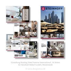 Have a look into the Catalog Hotel Interior International for Steinhoff GmbH, Westerstede | 56 Sites | www.designstuuv.de