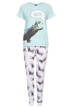 Pyjama avec motif hippopotame