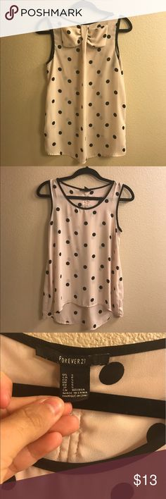 Dusty blush blouse with back bow New without tags. Forever 21 Tops Blouses