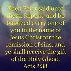 We are not commanded or asked to just take Jesus as our Savior. We are also not told to say a sinners prayer or just mentally believe in Jesus. We are however, commanded to repent (turn away from sin), be baptized (defined as water immersion) in the NAME of Jesus -for the remission (taking away the penalty) of sin, and promised to receive the gift of the Holy Ghost( Gods Spirit). All three are necessary for salvation. This message from the Acts 2:1-38 is still the same. Jesus Said You Must…
