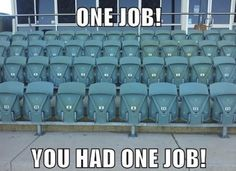 """Get your laugh on to these 40 hilarious """"You Had One Job"""" Pictures 🙂. When You See It, You Had One Job, Job Pictures, Funny Pictures, Ein Job, Job Humor, Ecards Humor, Funny Humor, Funny Quotes"""