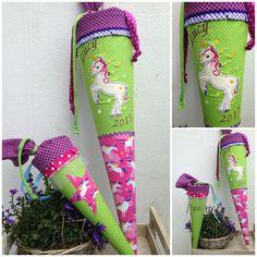 Schultüten - Schultüte aus Stoff Einhorn,später Kissen - ein Designerstück von Eichhorn-Barbara bei DaWanda