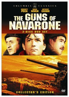 The Guns of Navarone..Gregory Peck, David Niven, Anthony Quinn, Stanley Baker!  And the theme was haunting.