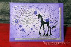 Kreatives Fusselchen: Happy Birthday - Einhornkarte
