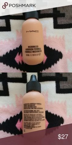 MAC Pro Cosmetics Micronized Airbrush Formula NW15 Only used a few drops straight into the airbrush machine, 99% of the product left. 1.7 FL oz bottle, this product can also be applied with a beauty blender. Color NW-15 is currently sold out. Smoke free home! MAC Cosmetics Makeup Foundation