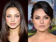 Mila Kunis before and after.