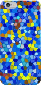 iPhone 6 Case Mosaic texture #Redbubble #Mosaic #texture #iPhone #Case #blue #yellow http://www.redbubble.com/people/medusa81/works/12632010-mosaic-texture?p=iphone-case
