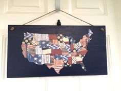 This door decoration is perfect for Memorial Day and Independence Day! It's super simple to make and it'll only cost a few dolllars.