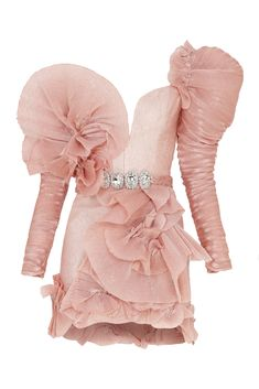 Raisa Vanessa Pink Mini Dress With Ruffles Pink Mini Dresses, Cute Dresses, Casual Dresses, Cute Outfits, Kpop Fashion Outfits, Stage Outfits, Look Fashion, Womens Fashion, Fashion Design