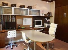 Workstations Design Combined With A Shared Planning Board. Home Office  DesignOffice DesignsOffice ...