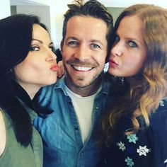 """My life with gorgeous friends #lparrilla @bexmader @creationent #newjersey"" - Sean Maguire via Instagram."