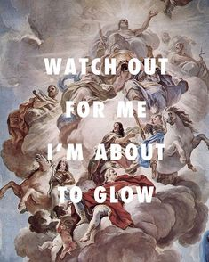 The glow got the Medici feeling gun-proof - Triumph of the Medici in the Clouds of Mount Olympus (1686), Luca Giordano / Glow, Drake ft. Kanye West