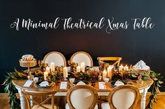Ένα minimal theatrical χριστουγεννιάτικο τραπέζι by My Best Wishes Events | The Wedding Tales Blog