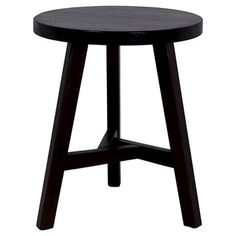 Chase Small Stool for small spaces. Hardwood, rounded top and three legs connected in a unique design. x - easy to move around Small End Tables, Side Tables, White Stool, Chair Drawing, Small Stool, Round Stool, Hillsdale Furniture, Vanity Stool, Space Crafts