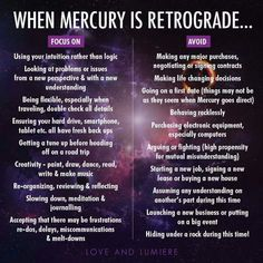 Mercury in retrograde: 05.01.-25.01.2016, 28.04.-22.05.2016, 30.08.-21.09.2016, 18.12.-07.01.2017