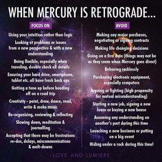 Mercury in retrograde: 05.01.-25.01.2016, 28.04.-22.05.2016, 30.08.-21.09.2016, 18.12.-07.01.2017