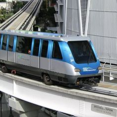 Metromover - Mass Transportation Systems - Hop on the metro mover when you travel which is also very convenient way to get around the Biscayne Bay area