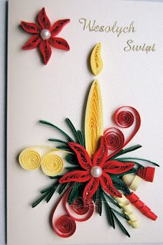 Neli Quilling, Paper Quilling Cards, Paper Quilling Flowers, Paper Quilling Patterns, Quilling Paper Craft, Paper Crafts Origami, Origami Christmas Ornament, Quilling Christmas, Quilling Tutorial
