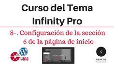 Curso del Tema Infinity Pro - 08-. Configuración de la sección 6 de la página de inicio