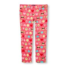 Girls Printed Woven Jeggings - Pink - The Children's Place