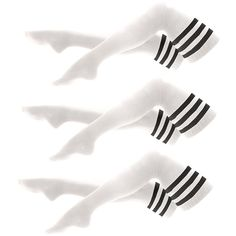 Stripe Thigh-High Socks (3-Pack) ($44) ❤ liked on Polyvore
