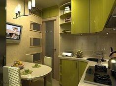 Дизайн кухни в маленьких квартирах