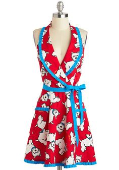 East, Westie, Home's Best Apron, #ModCloth  How fun is this apron!! :) Makes one smile!