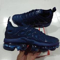c9efbe094d35d  89 Nike Air VaporMax Plus Triple Black Sneakers Blue Air Max