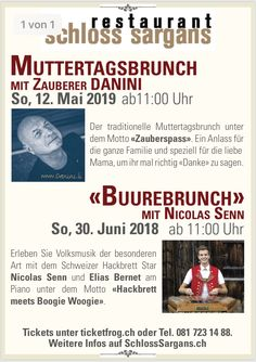 B E I   U N S   I M    S C H L O S S   Das Schloss Sargans ist bekannt, für seine verschiedenen Events. Wir fangen an beim traditionellen Muttertags-Brunch im Frühling. . . . #SchlossSargans #schloss #sargans #castle #events #speciallocations #switzerland #swisstourism #heidiland #eventplanner #musik #dinnershow #brunch #Muttertag #may #swissart #swissartist #historicplaces #exploreswitzerland #timeoutsociety #foodstagram #foodlovers #musiclovers #inlovewithswitzerland #swissmusic #swissart Motto, Dinner Show, Location, Events, Dear Mom, Music, Happenings, Mottos