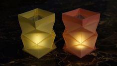basteln zu Weihnachten: Windlichter aus Papier falten - DIY - YouTube