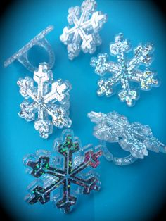 10 Frozen Birthday Party Holographic Snowflake by WizysPartyShop, $8.00