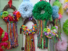 fiesta wreaths - I miss San Antonio