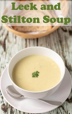 Leek and stilton soup is a creamy and delicious recipe. This winter warmer will soon have you glowing and would make a perfect festive starter but is great all year round too! Leek Recipes, Easy Soup Recipes, Lunch Recipes, Chicken Broth Can, Quick Healthy Lunch, Bowl Of Soup, Homemade Soup, Vegetable Dishes, Kitchens