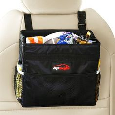 EPAuto Waterproof Car Trash Bin Leakproof Auto Litter Bag with Side Pocket, Black Keep your vehicle clean, organized, free of trash Built-in LiquiShield waterproof interior Velcro seal unsightly garbage out of view Size is x x with adjustable buckle ~ Trash Can For Car, Car Trash, Trash Bag, Car Checklist, Car Upholstery, Household Cleaning Supplies, Family Organizer, Garbage Can, Smart Car