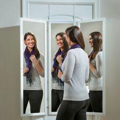 Over-the-Door Triple View Mirror