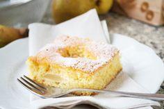 Mit diesem fruchtigen #Rezept zaubern Sie einen leckeren versunkenen #Birnenkuchen, den niemand so schnell vergessen wird.
