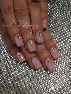 Lush n Blush  #nails #naildesign #manimonday #swarovski #crystals
