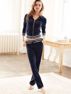 The softest velour makes staying in even more fun. | Victoria's Secret Velour Pant