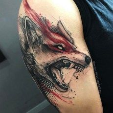Guy with watercolor wolf arm gamer tattoos Gamer Tattoos, Wolf Tattoos, Badass Tattoos, Animal Tattoos, Body Art Tattoos, Tattoos For Guys, Tatoos, Tattoo For Man, Maori Tattoos