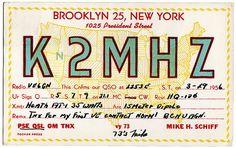 Brooklyn Flea Booty: CB Radio QSL Cards
