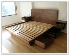 Image result for Malibu King Low Wall Storage Bed - Umber