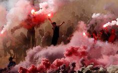 Los ultras de la Estrella roja de Belgrado