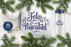Feliz Navidad svg Spanish Christmas svg Arou   DIGITANZA
