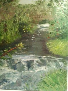 Summer stream - oil on canvas