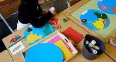 fabriquer un planisphère à la façon Montessori