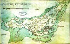 Sur la carte des années 1700, on peut voir, sur le pourtour de l'île et sur la…